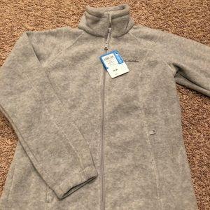 Ladies small gray fleece Columbia zip up
